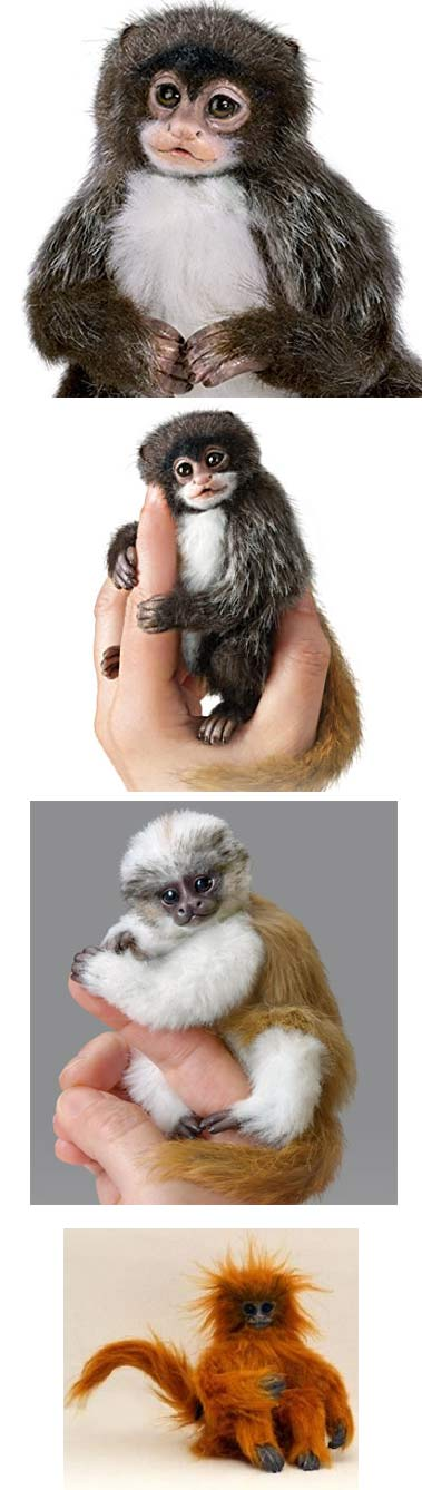 fake finger monkeys dolls